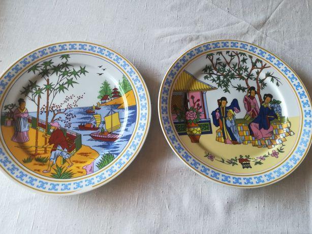 Pratos de porcelana chinês