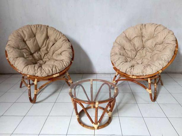 Папасан комплект з 2 крісел та кавового столика