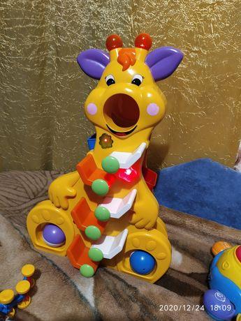 """Музыкальная игрушка """"Весёлый Жирафчик""""ТМ Kiddieland"""