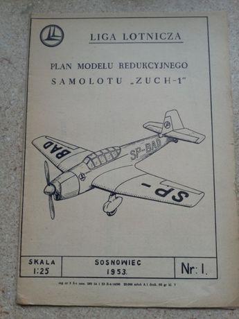 Plan modelu samolotu Zuch-1