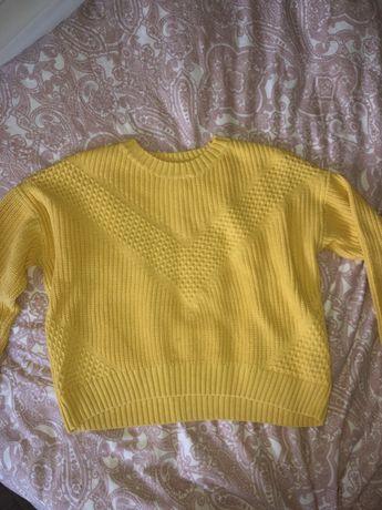 Sweter H&M S żółty