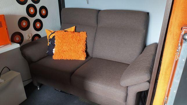 Sofa brązowa masywna