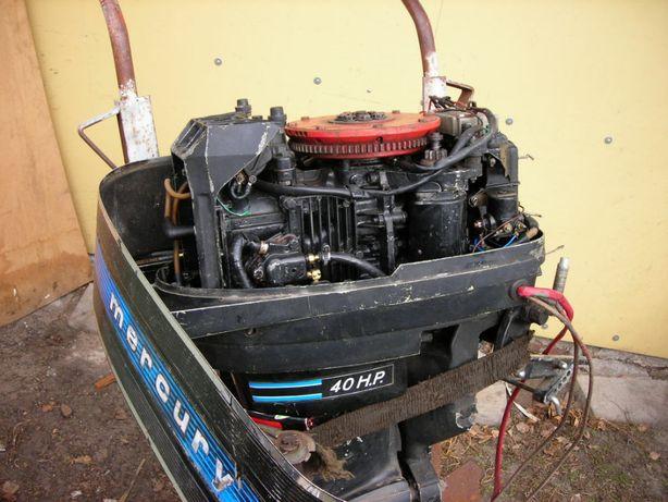 Silnik zaburtowy Mercury 402 40H.P. + sterowanie linki manetki