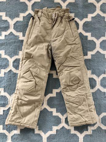 Spodnie zimowe ocieplane narciarskie 140
