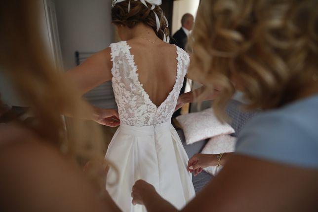 Sprzedam przepiękną suknię ślubną autorstwa Violi Piekut-welon GRATIS