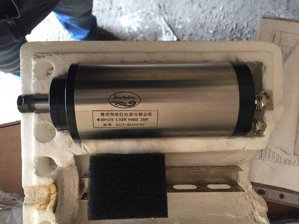 шпиндель китай ф 80x170, 1.5 kw 400hz 220v водяное охлаждение