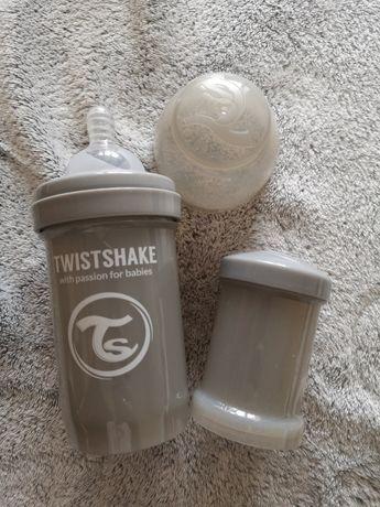 Twistshake Butelka Antykolkowa szara 180ml 0+