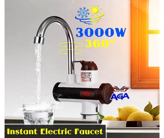 Przepływowy Podgrzewacz Wody 3000W LCD Zlewowy