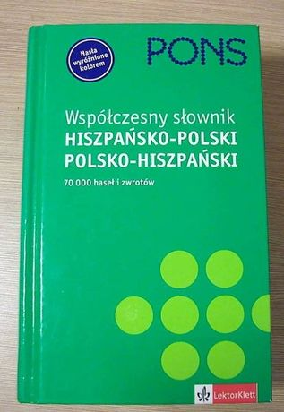 PONS Współczesny słownik polsko-hiszpański, hiszp-plski