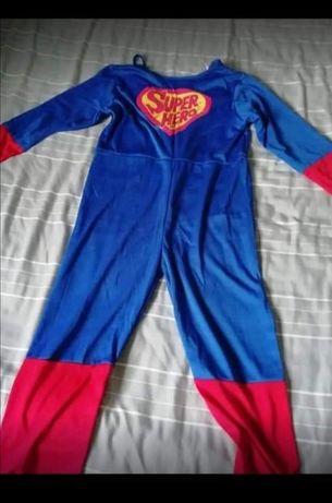 Fato de carnaval de de super homem