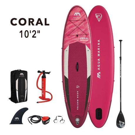 """Deska SUP Aqua Marina Coral 10'2"""" Kompletny zestaw - Zielona Góra"""