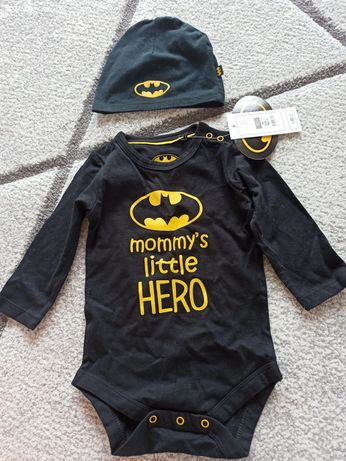 Zestaw Batman- body + czapeczka