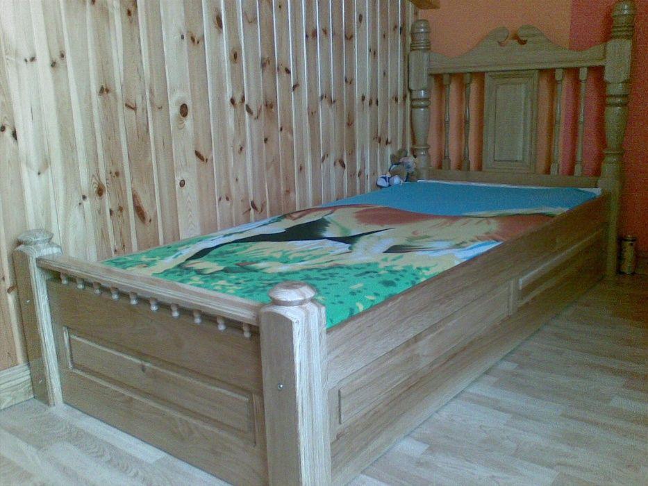 łóżko dębowe lakierowane Kościan - image 1