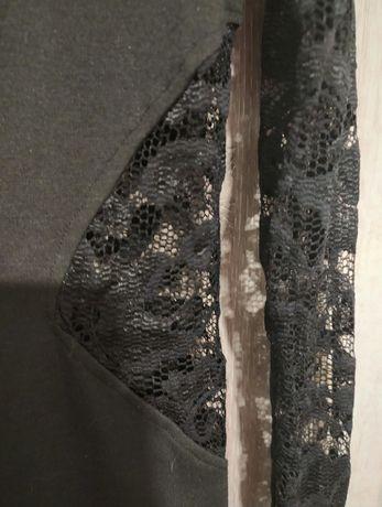 ASOS sukienka koronkowa czarna L 40