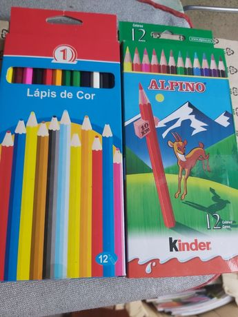 """Caixa c/ 12 Lápis Cor """"ALPINO"""" (Estrear)"""