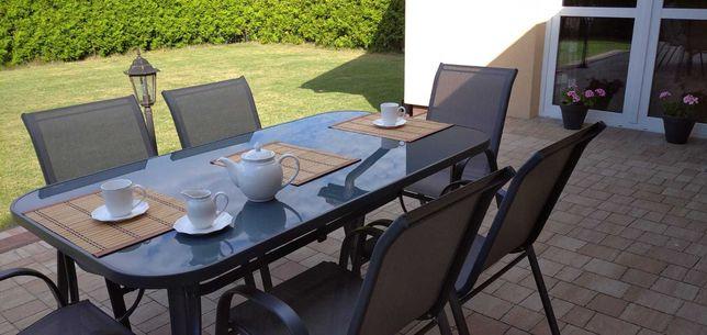 Nowy Zestaw mebli ogrodowych: Duży stół, 6 krzeseł