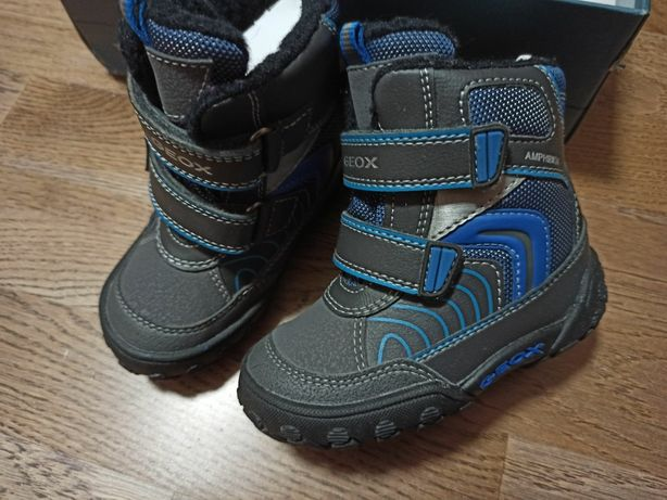 Зимние ботинки сапожки сапоги зимові чобітки Geox джеокс 22 р.14 см