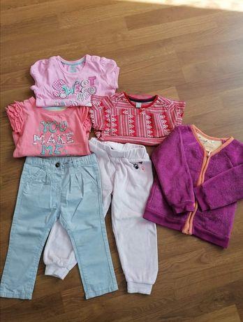 Zestaw ubranek 86 92 Endo bluza Lupilu spodnie bluzki Young Taupe