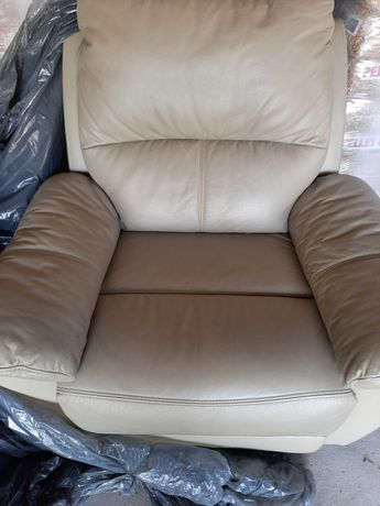 Fotel rozkładany skóra wygodny Bydgoska Fabryka Mebli