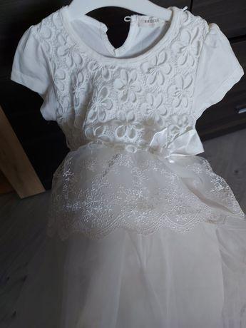 Белое платье, ручная работа