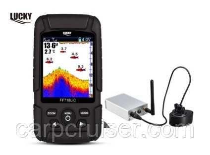 Беспроводной эхолот Lucky FF718-LiC-WL с цветным экраном