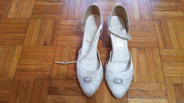 Buty ślubne 37 białe Kozdra