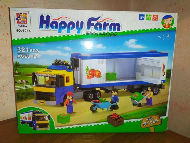 Новый конструктор перевозчик фура контейнер машинка Лего lego