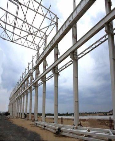 БВЗ Ангары, склады, зернохранилища из профнастила. Строительство