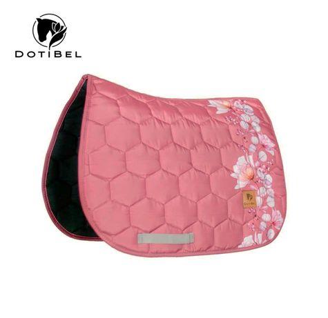 ZESTAW KOMPLET dotibel różowy czaprak z nausznikami