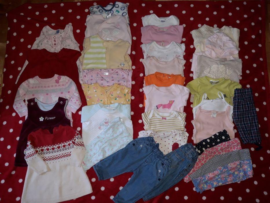 Paka dla dziewczynki ciuszki body spodnie sukienki 3-6 miesięcy 68 Przemyśl - image 1