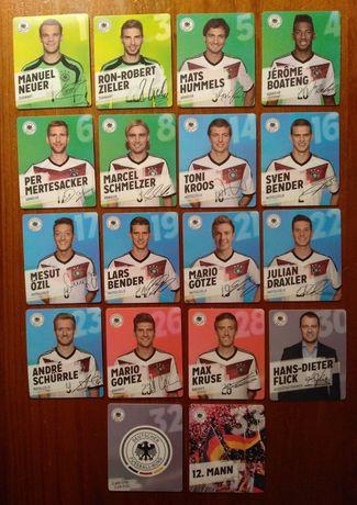 Lote de 18 tazos da Seleção da Alemanha 2014