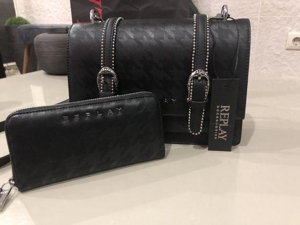 Conjunto de mala e carteira Replay