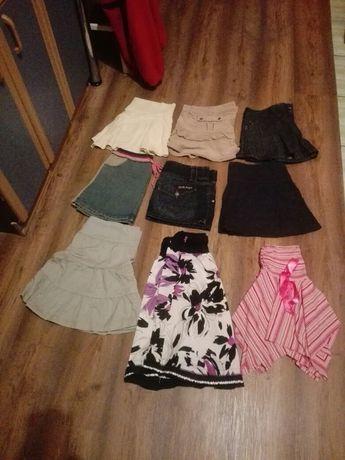Spodnie krótkie, spódniczki, bluzki