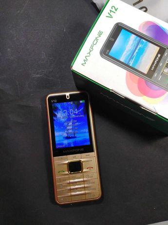Мобильный телефон MAXFONE V12 Gold на 4 sim карты -  2000мАч