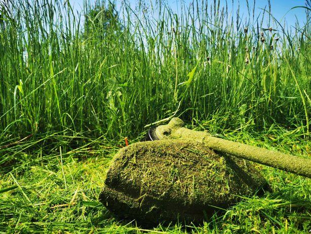 Koszenie poboczy trawy karczowanie koparka