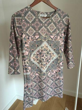 Sukienka prosta wzór aztec S/M