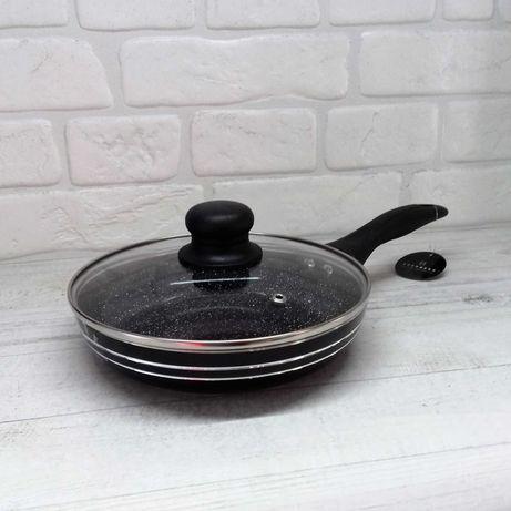 Сковорода, сковородка с крышкой Edenberg EB-764, мрамор, гранит