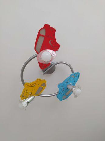 Lampa/żyrandol chłopięcy kolorowy w samochody