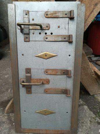 drzwiczki drzwi żeliwne piec wędzarnia komin retro vintage nowe