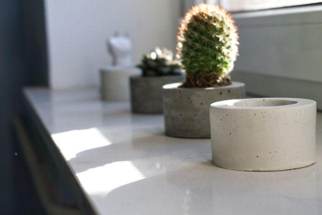 betonowe doniczki dla sukulentów - 3 sztuki - Komplet