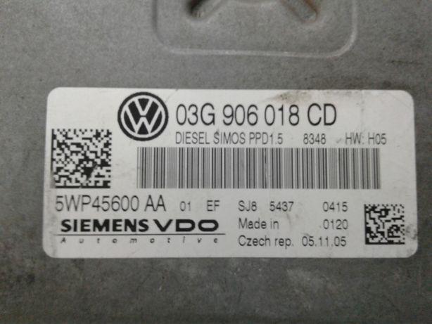 Volkswagen Passat B6 2.0tdi Блок управления двигателем 03G906018CD