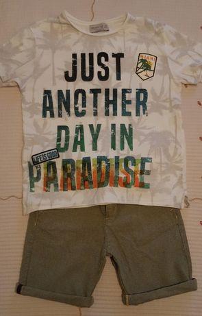 Conjunto Zara (calções e t-shirt) 6 anos - portes incluídos