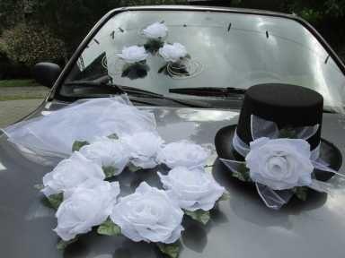Dekoracja Na Samochód Auto Ozdoby Cylinder Welon suknia ślubna