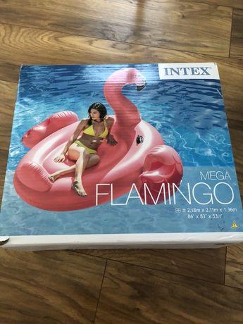 Mega flaming flamingo intex dmuchany materac xxl mega duzy
