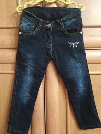 Тёплые зимние джинсы на девочку