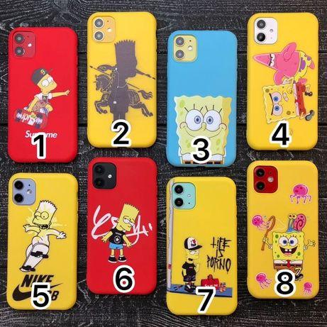 Чехол силоковый iphone 7 8 plus x xs xr 11 pro max айфон силикон плюс