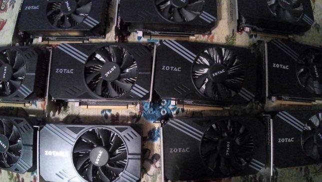 Видеокарта Zotac P106-90 3Gb майнинг ферма р106 1060 mining rx 470