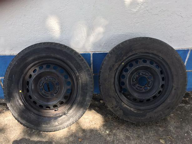 2Jantes  Mitsubichi R14 2 com pneus 185/70 R14 Continental