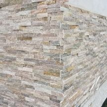 płytki łupek Beż 36x10 panel ścienny ściana elewacja kominek