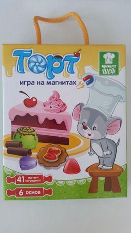 Vladi Toys Магнитная игра Торт, магниты на холодильник